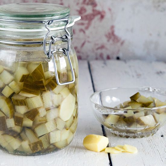 Pickled cucumbers with ginger