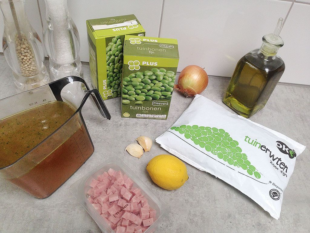 Refreshing broad bean soup ingredients