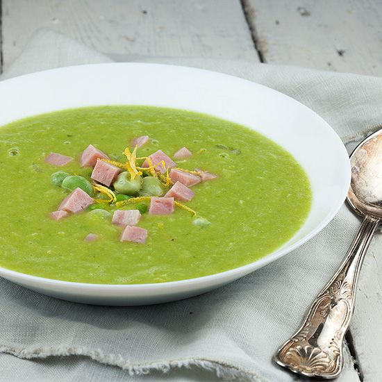 Refreshing broad bean soup square - Refreshing broad bean soup