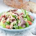 Roast beef salad with mustard dressing 120x120 - Roast beef with quince and pumpkin