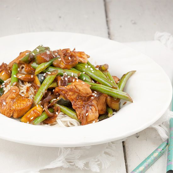 Chicken and green bean stir fry ohmydish recipe image recipe name chicken and green bean forumfinder Images