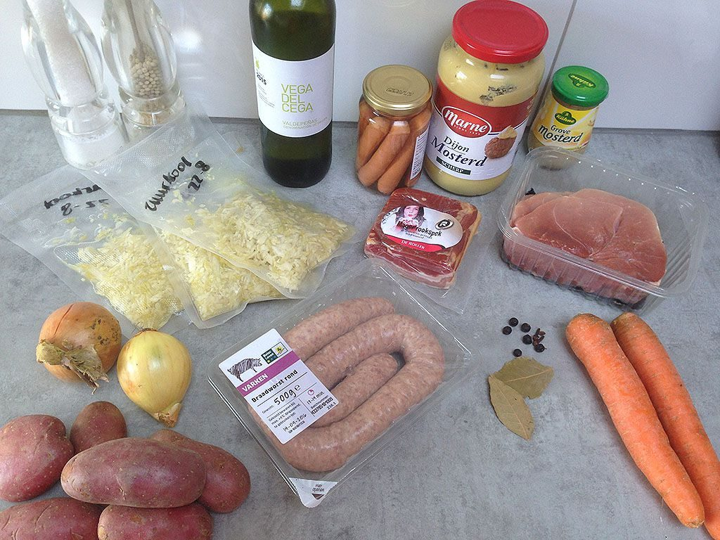 Choucroute ingredients