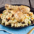 Couscous with veggies and chicken legs 120x120 - Lemon chicken with rice and pesto