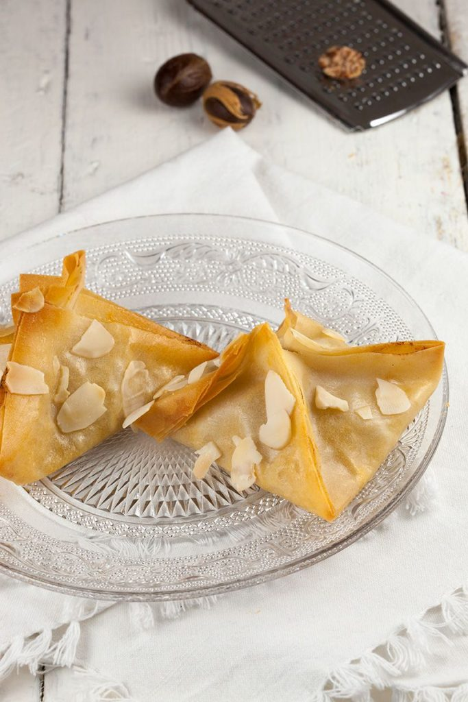 Pear and blue cheese filo pastries 2 683x1024 - Pear and blue cheese filo pastries