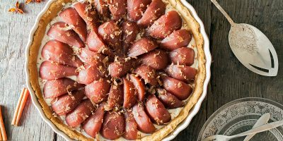 Poached pear and cinnamon pie 400x200 - Homepage