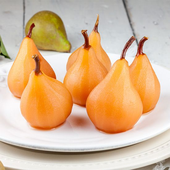 Poached pears in apple juice square - Poached pears in apple juice