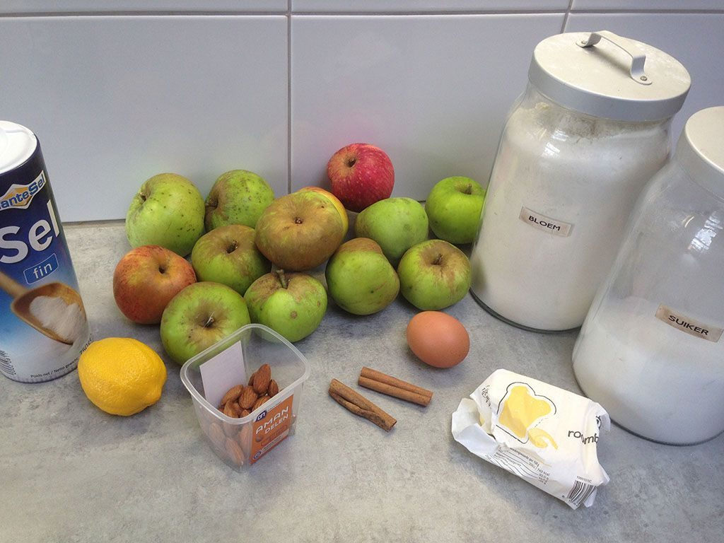 Thin crusted apple pie ingrediënts