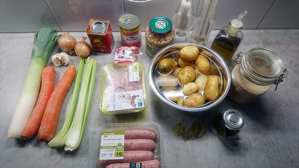 Easy French cassoulet ingredients