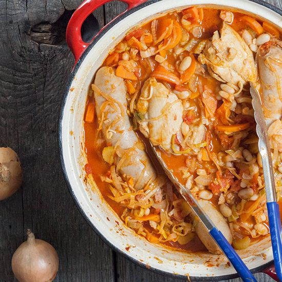 Easy French cassoulet square - Easy French cassoulet