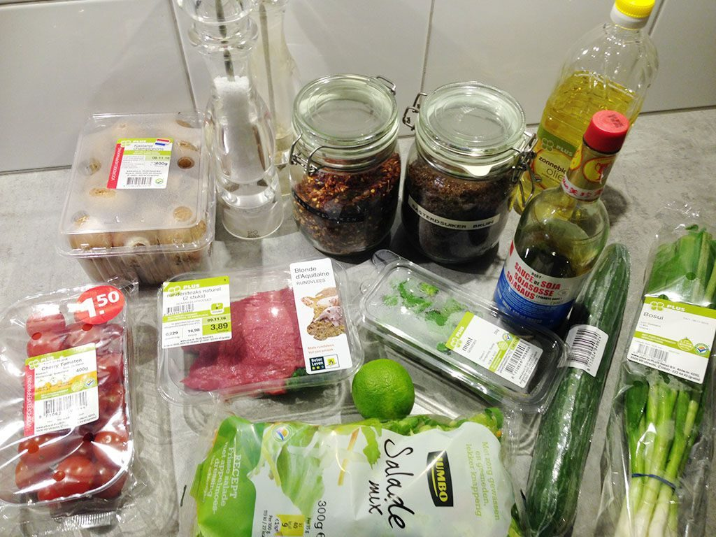 Thai beef salad ingredients