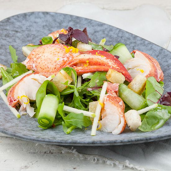 Lobster and green apple salad square - Lobster and green apple salad