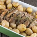 Oven roasted pork loin with rosemary and potatoes 120x120 - Veal roast with tomatoes and rosemary