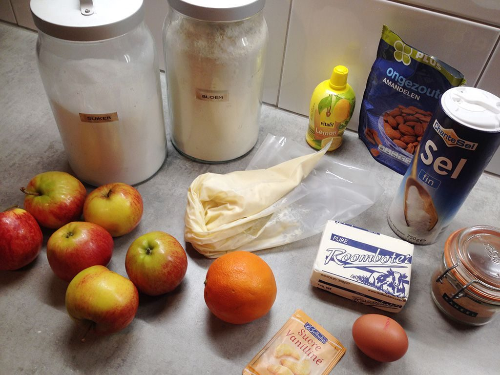 Apple crumble pie ingredients