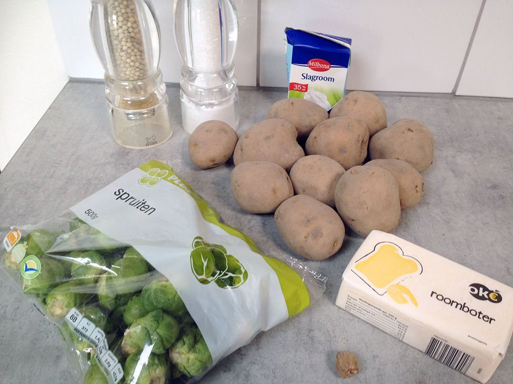 Brussels sprouts puree ingredients