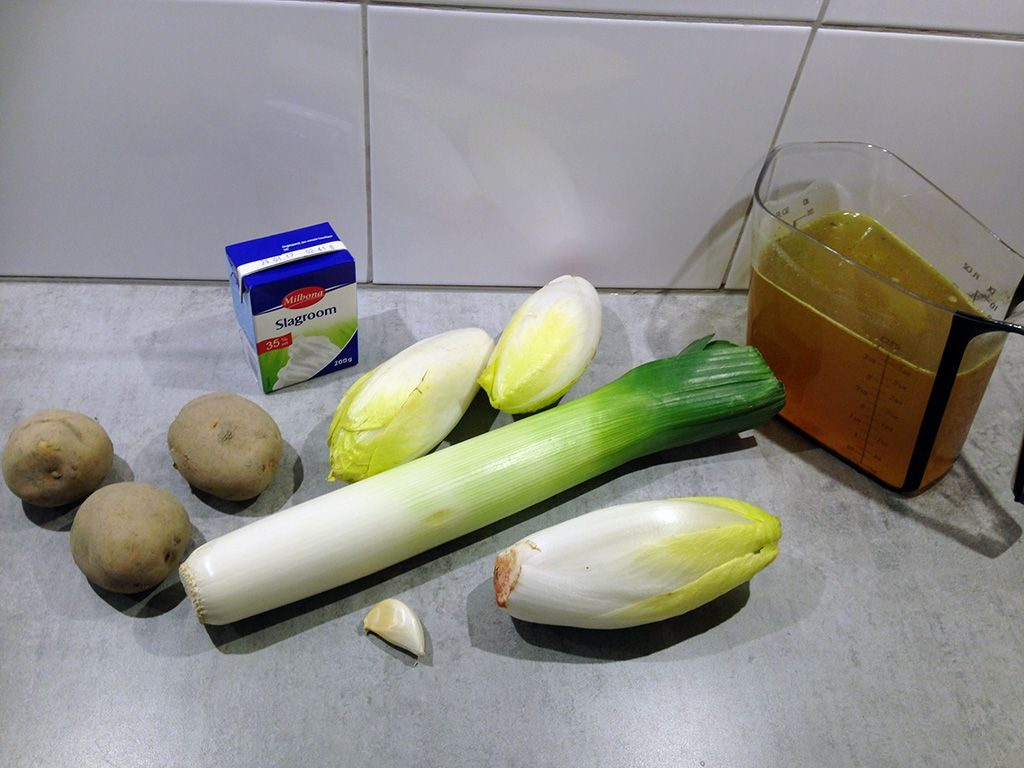 Chicory soup ingredients 1024x768 - Chicory soup