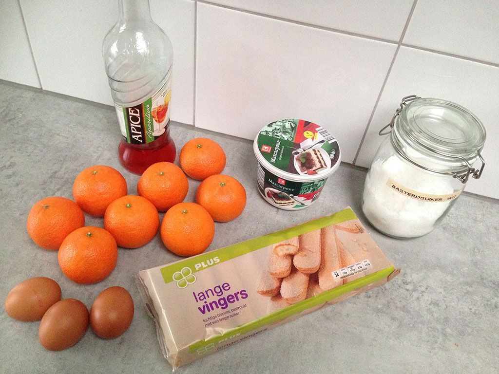 Clementine tiramisu ingredients