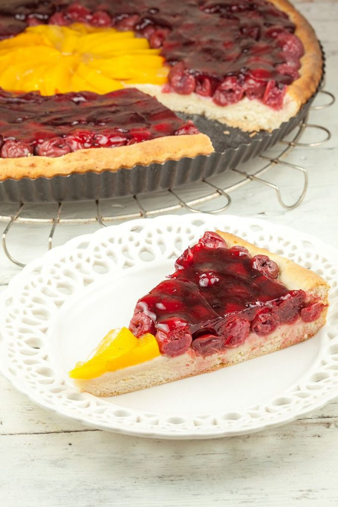 Dutch cherry pie - kersenvlaai