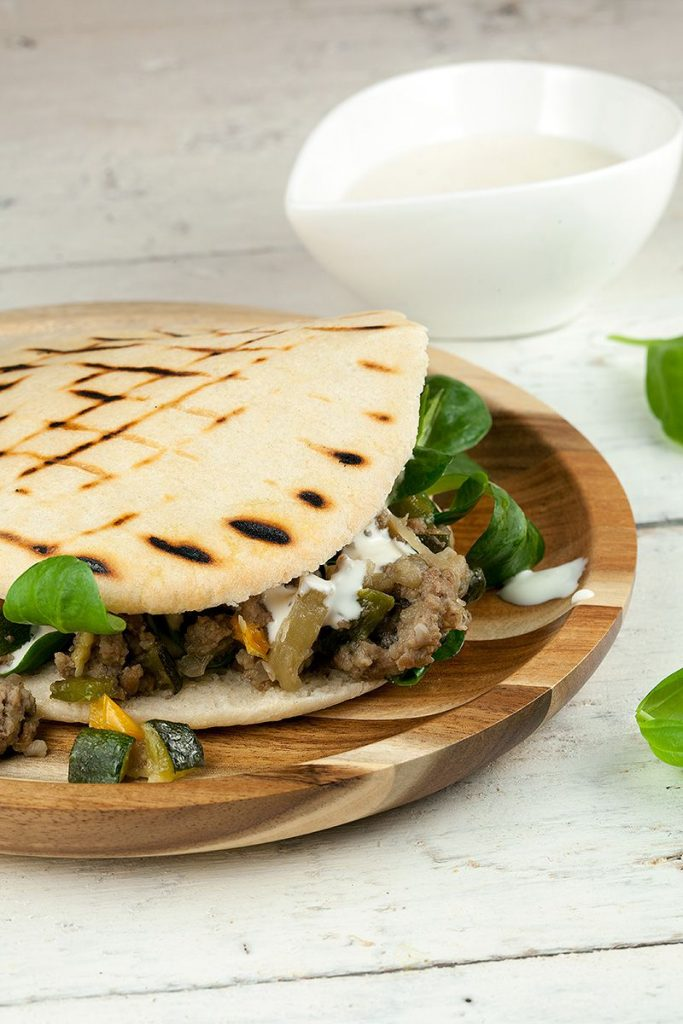 Pita bread with minced meat and eggplant 2 683x1024 - Pita bread with minced meat and eggplant