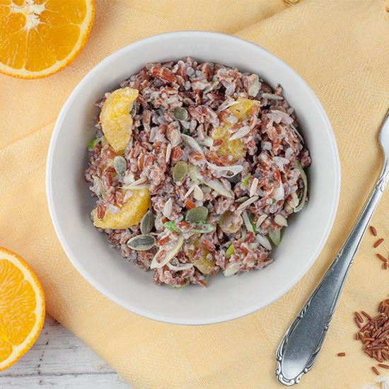Red rice and orange salad square - Red rice and orange salad