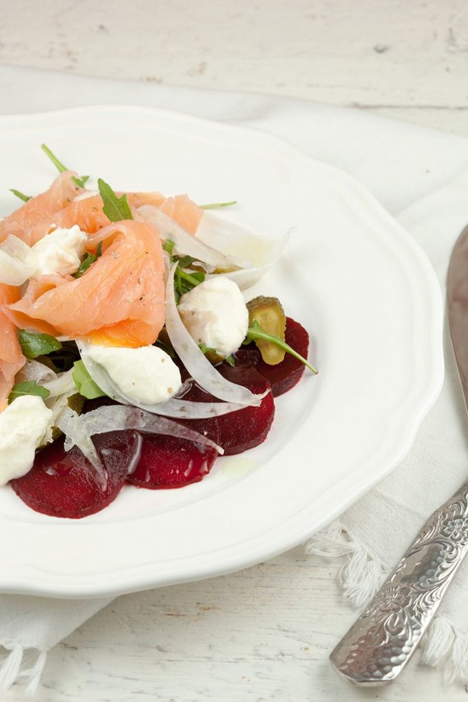 Smoked salmon salad with horseradish crème fraîche 2 683x1024 - Smoked salmon salad with horseradish crème fraîche