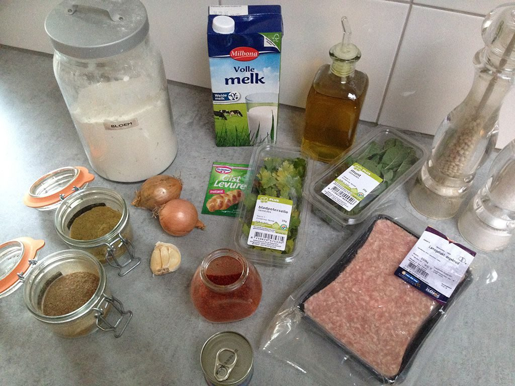 Turkish pide ingredients