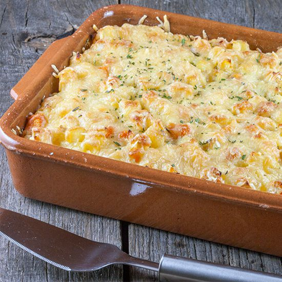 Celery root and rosemary casserole