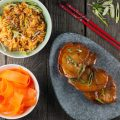 Kimchi fried rice and gochujang pork chops 120x120 - Stir-fried potatoes and radishes with veal