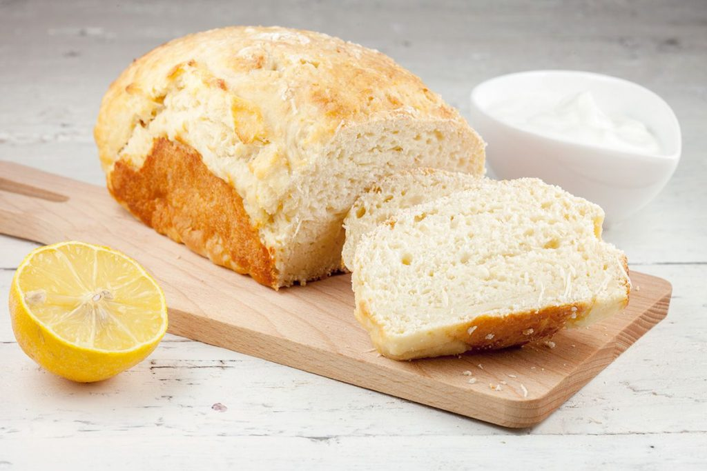 Lemon quark bread