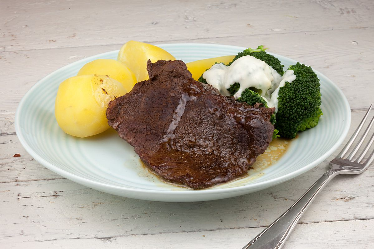 Slow-braised beef