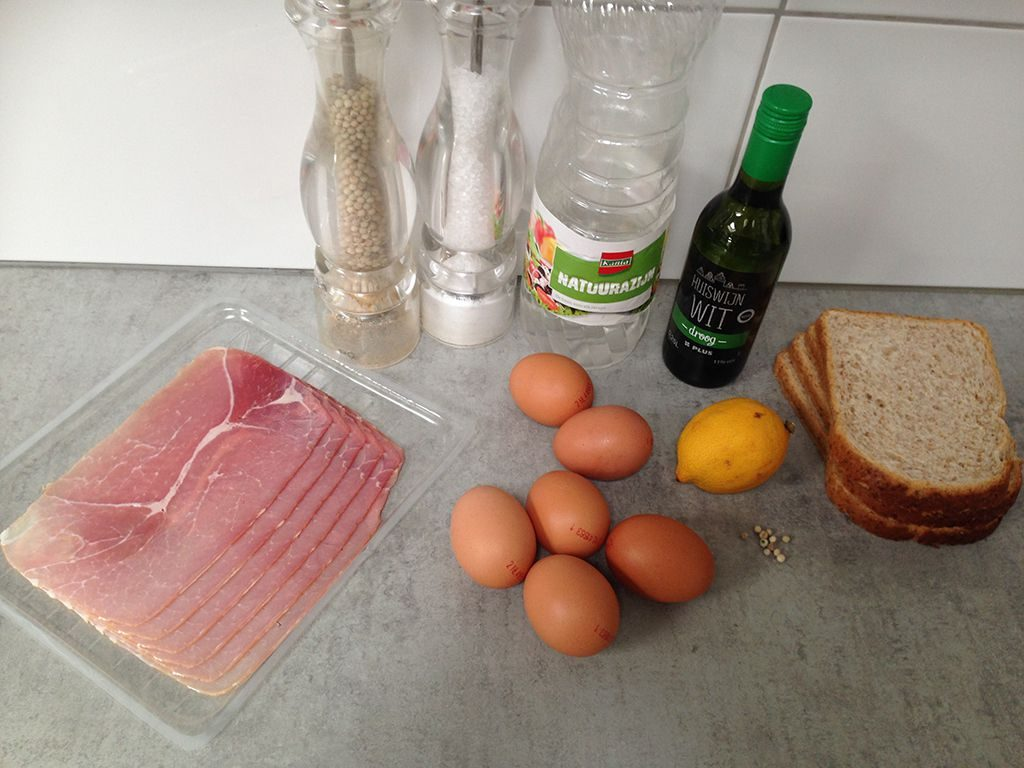 Eggs benedict ingredients