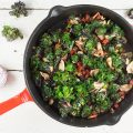 Flower sprouts with chorizo 120x120 - Pan fried chorizo