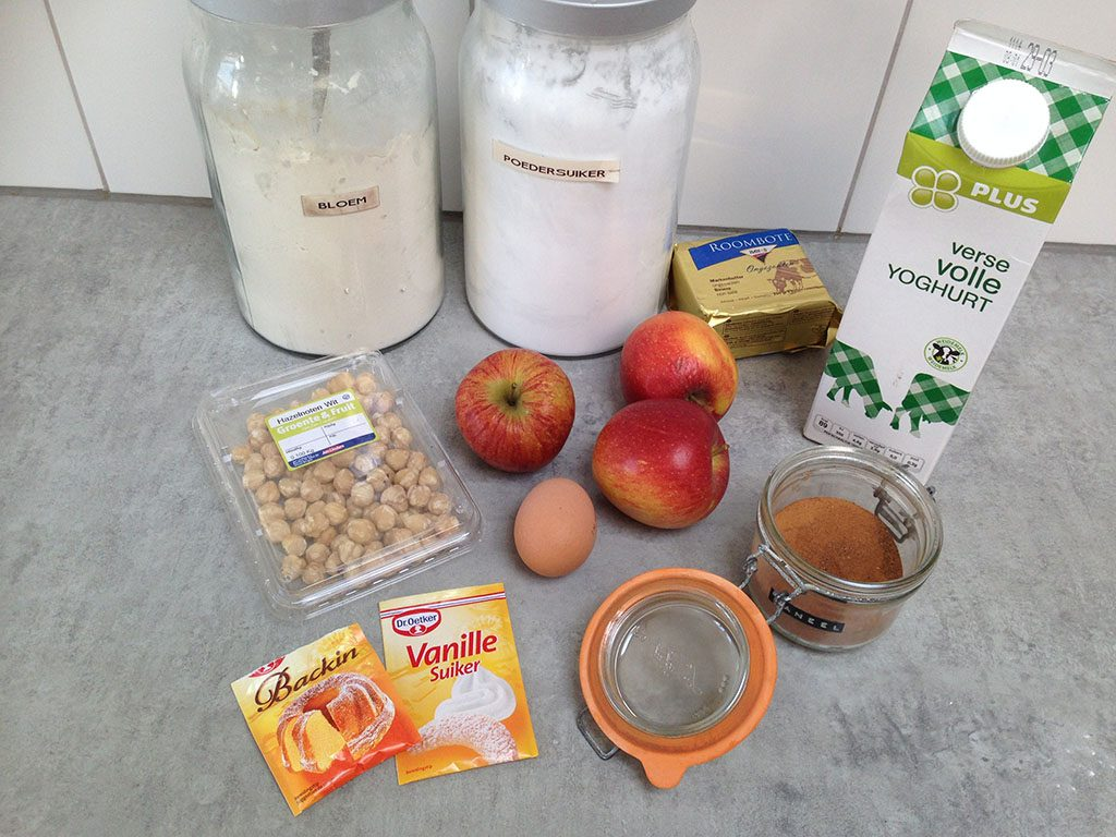 Turkish apple cookies - Kurabiye elmali ingredients