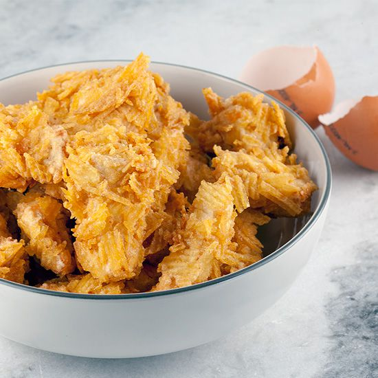 Deep fried potato chip chicken square - Deep-fried potato chip chicken