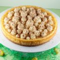 Eggnog cheesecake 120x120 - Strawberry eggnog tarts