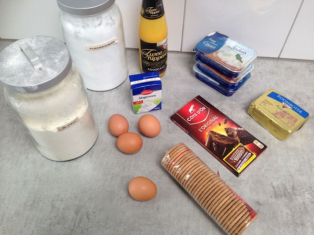Eggnog cheesecake ingredients