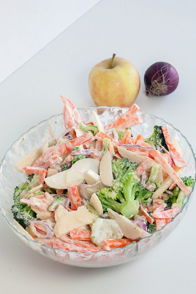 Broccoli apple salad 2 683x1024 - Broccoli apple salad