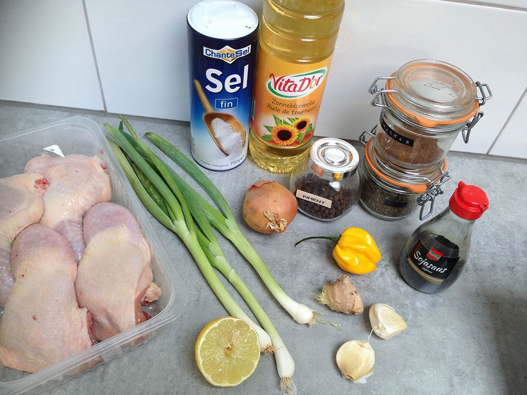Jamaican jerk chicken ingredients