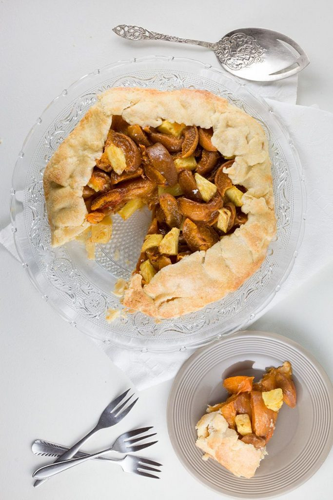 Pineapple-apricot galette