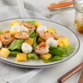 Shrimp salad with mango and mozzarella 120x120 - Spiral cucumber mini mozzarella salad