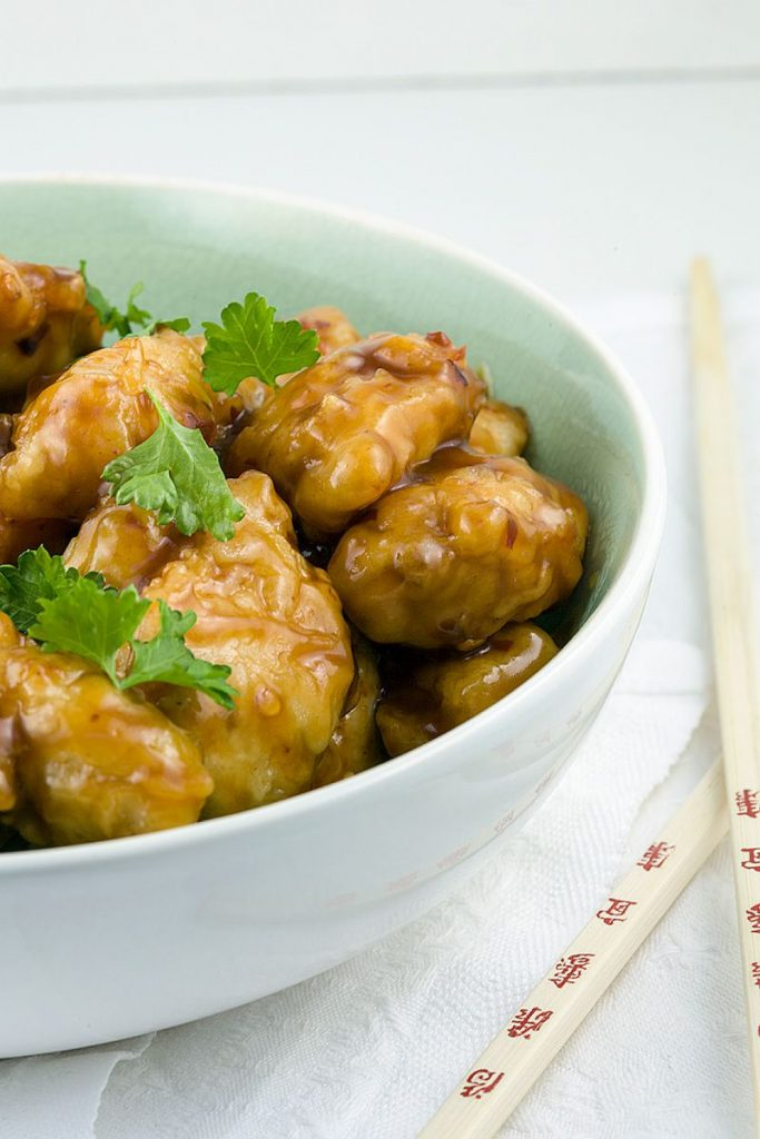 Sticky honey chicken