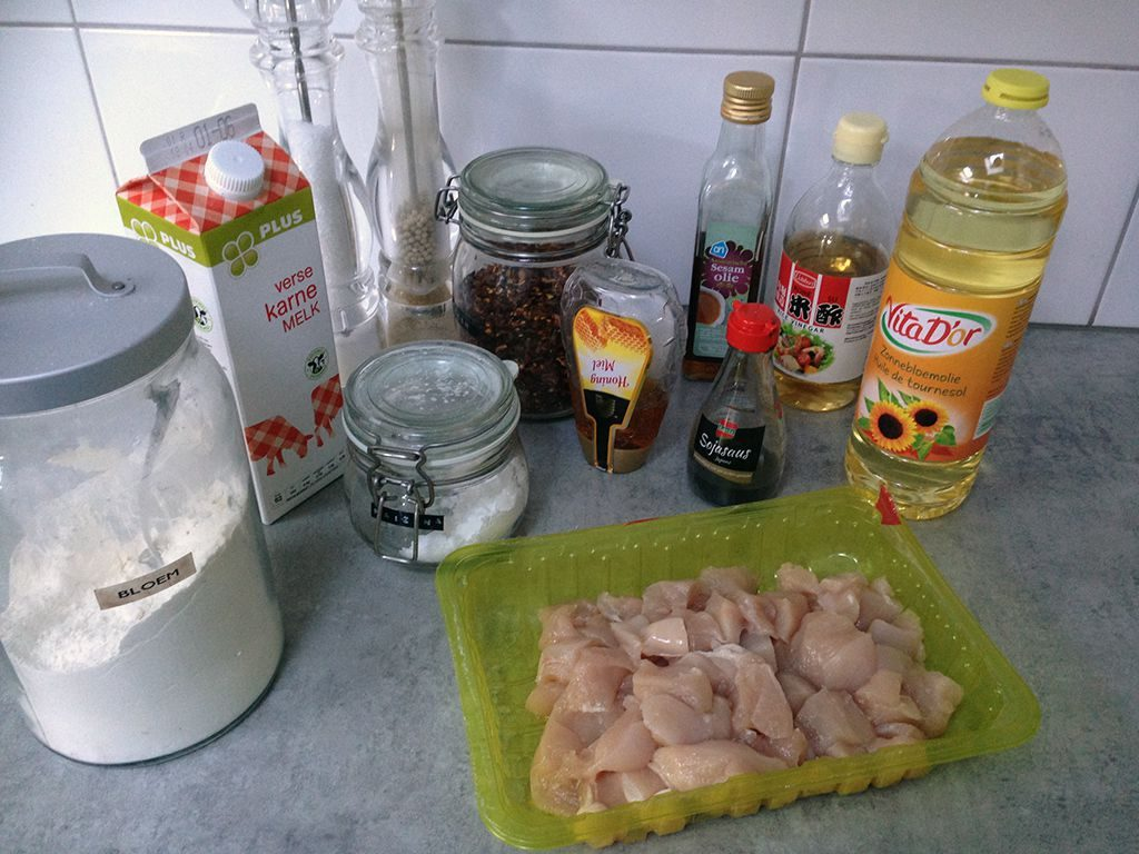 Sticky honey chicken ingredients