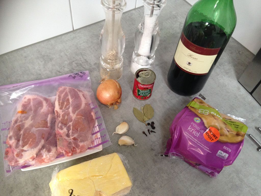 Braised pork shoulder ingredients