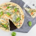 Green beans and bacon quiche