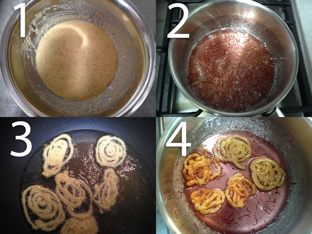 Jalebi step-by-step