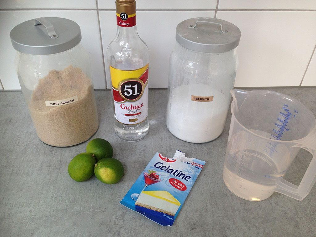 Caipirinha sorbet ingredients