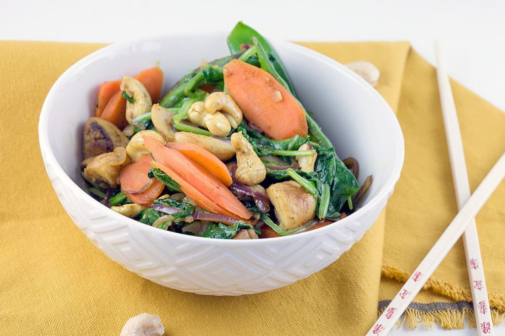 Curried stir-fry vegetables