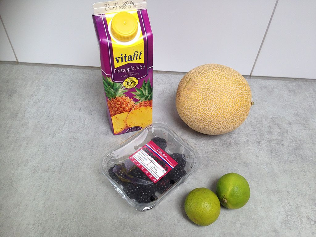 Drinkable fruit salad ingredients