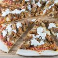 Pizza shawarma with garlic sauce 120x120 - Turkish pizza a.k.a. Lahmacun