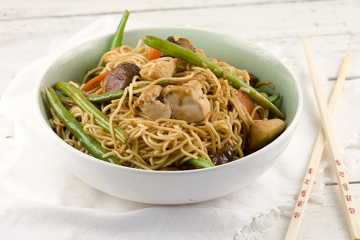 Teriyaki chicken and noodles