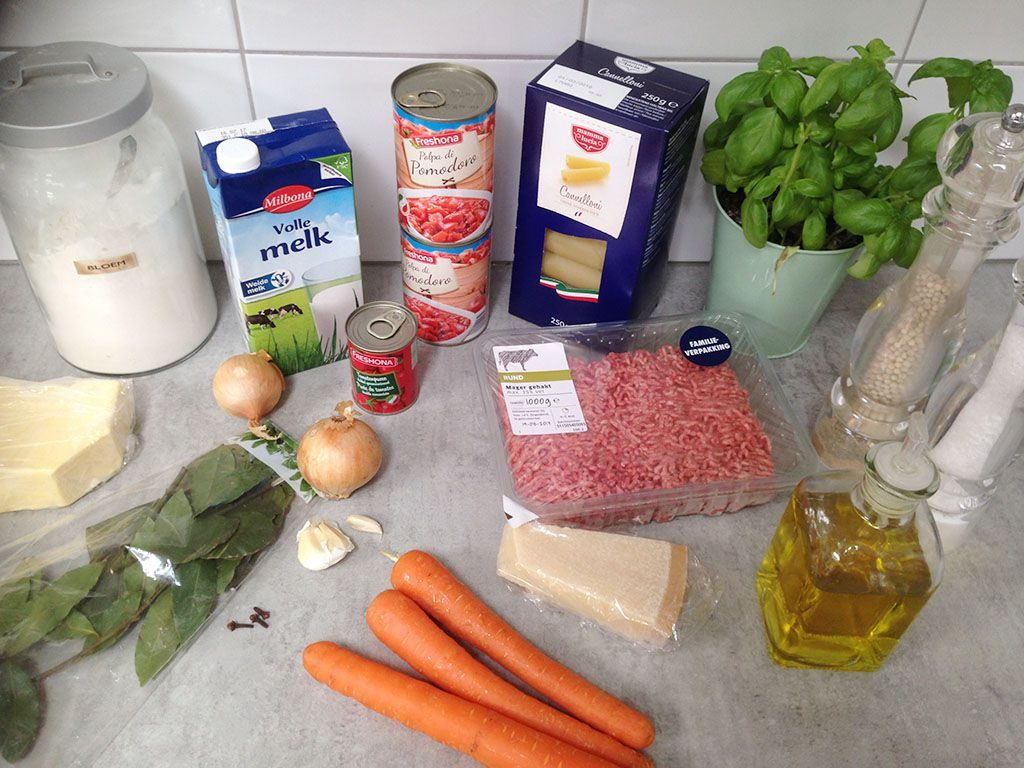 Ground beef cannelloni ingredients